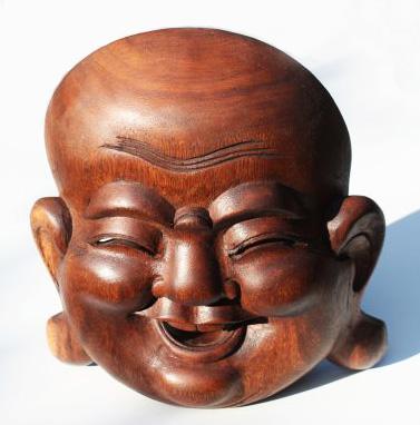 boeddha maskers lachende boeddha masker 20 cm